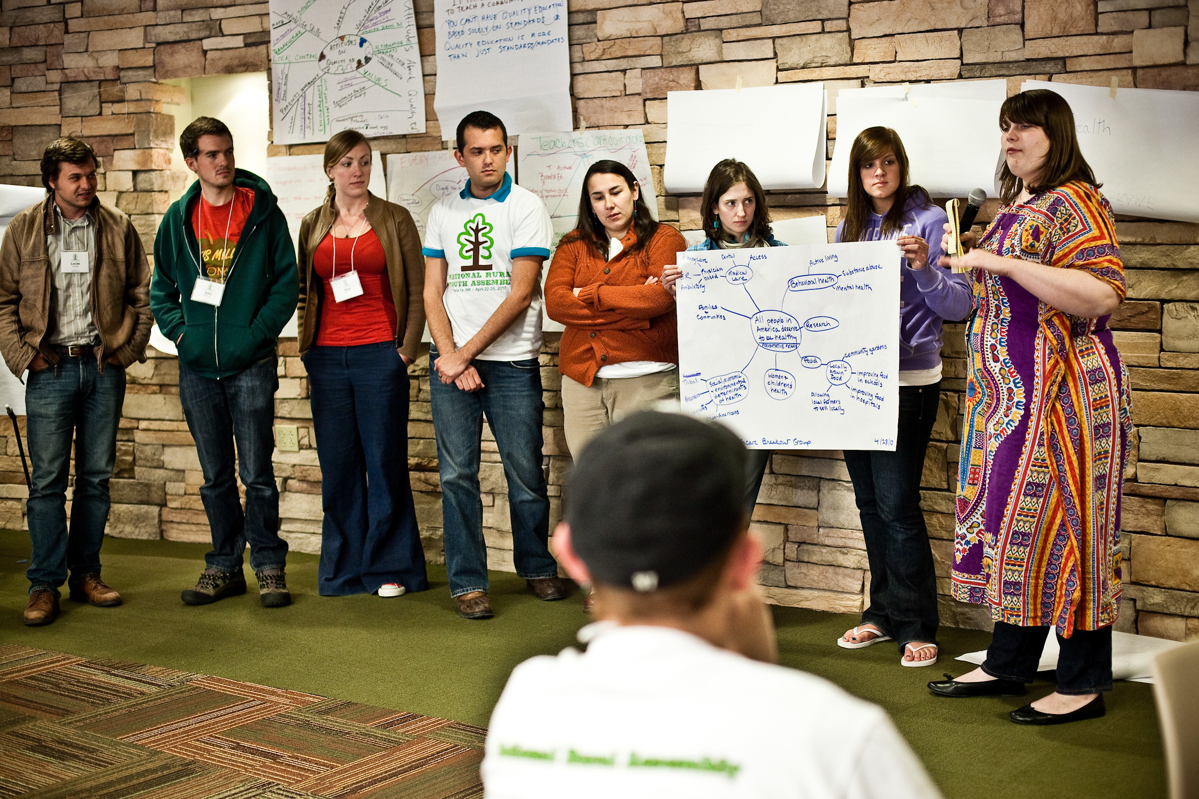 Participants presenting at the 2010 Rural Youth Assembly in Santa Fe, New Mexico