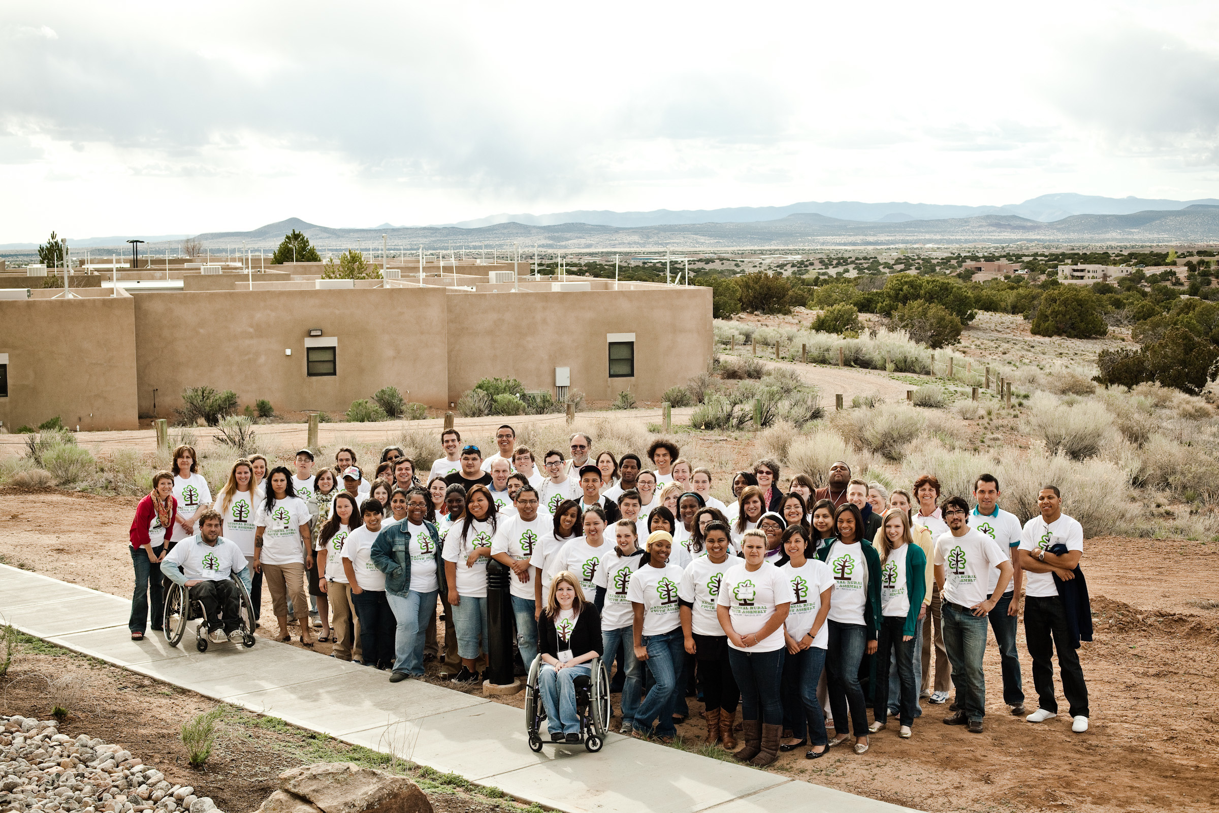 Participants of the 2010 Youth Assembly in Santa Fe, New Mexico gather