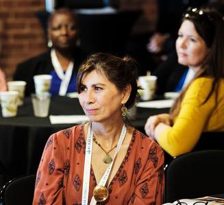 Filmmaker Anita Holsapple at the inaugural Rural Women's Summit