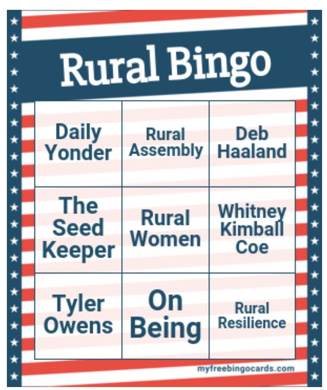 Rural Bingo Happy Hour
